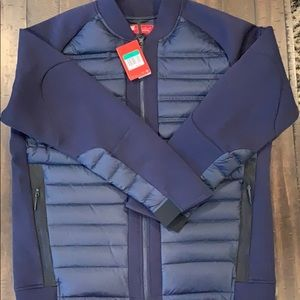 Nike Tech Fleece Aeroloft Bomber Jacket XL Blue